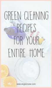 When I first started using DIY cleaners, I started slow. I chose recipes that would make the biggest impact, like all purpose cleaners to start with.