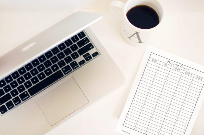 Small Business Planner - Password Tracker