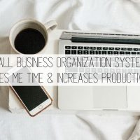 My Small Business Organization System