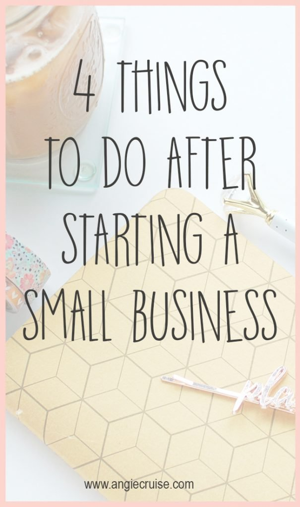 I'm going to tell you 4 things I think you should be doing in your first 3 months of starting a small business. And it won't stress you out!
