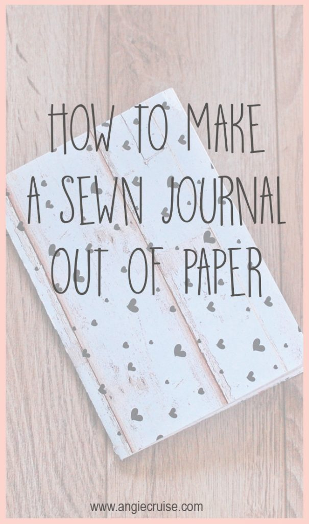 If you love notebooks and you love crafting, this sewn journal tutorial is right up your alley! This is a simple and cheap DIY journal that anyone can do!