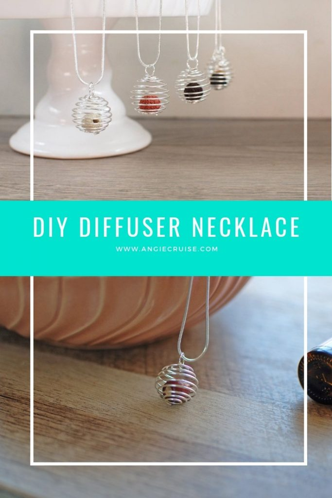 This DIY essentiail oil diffuser necklace is a great way to carry your favorite scent around with you all day.