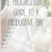 The Procrastinators Guide to a Productive Day