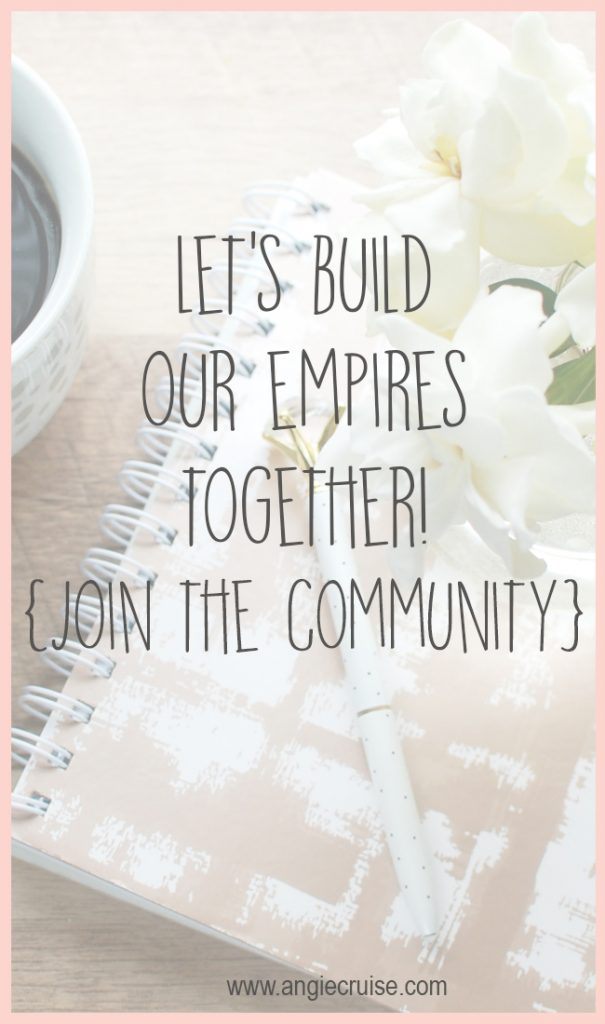 Are you a mom, building a business from home? I know first-hand just how isolating that can be. Join the community for friendship and support!