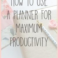 How to Use a Planner for Maximum Productivity