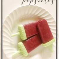Mixed Berry Super-Food Homemade Popsicles