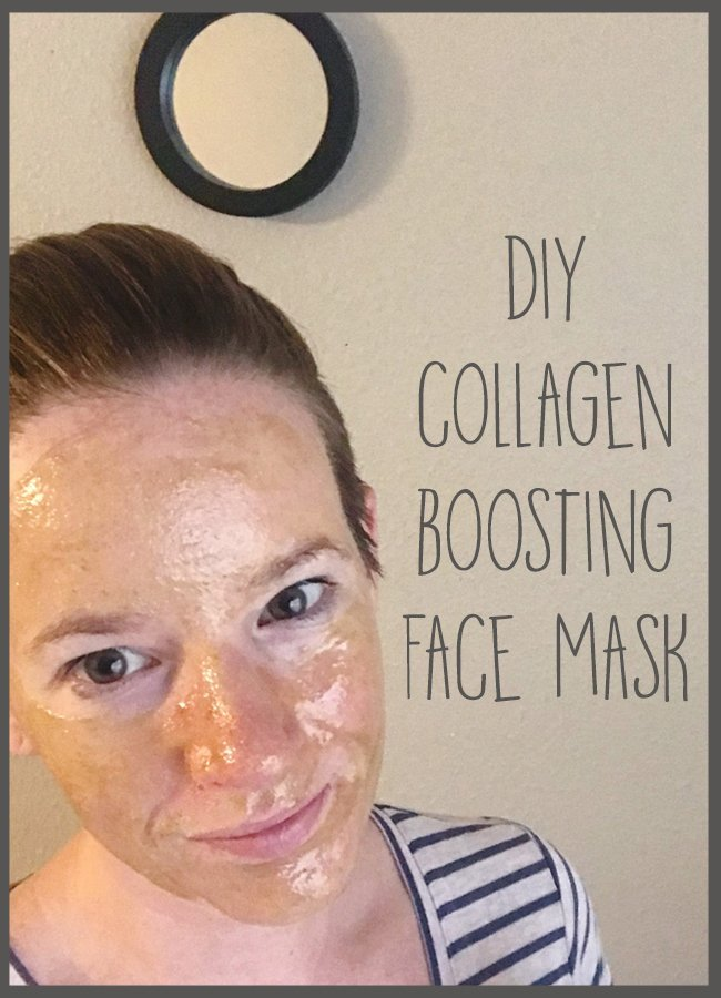 Make a simple collagen boosting, antioxidant face mask using just 3 ingredients to help improve skin tone and improve elasticity. #greenbeauty #naturalbeautyproducts