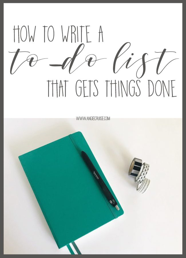 Is your to-do list not getting things done? Learn my top tips for writing a better to-do list right here!