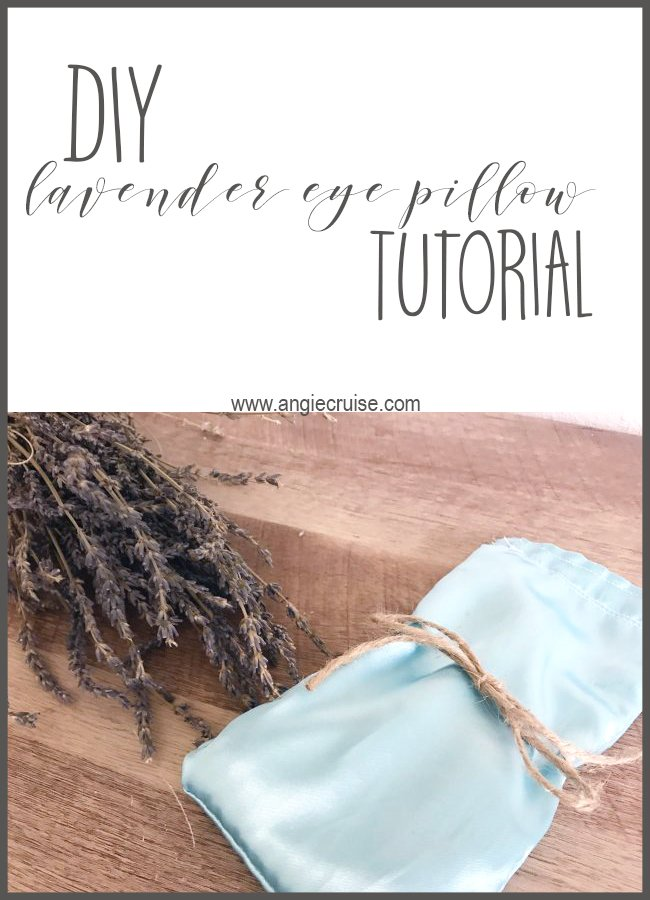 Some days, you just need to sit back, put your feet up, and unwind a little. Try adding this DIY lavender eye pillow to your relaxation time while you enjoy a few minutes to yourself! #aromatherapy #lavendereyepillow #diy