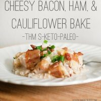 Easter Lunch Idea: Cheesy Bacon, Ham, & Cauliflower Casserole