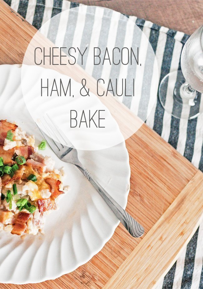 I don't know about you, but when I think about Easter, the first thing that comes to mind is ham. This cheesy bacon, ham & cauliflower casserole is the perfect easy Easter lunch idea that will feed a crowd, big or small. #easterrecipes #paleo #trimhealthymama