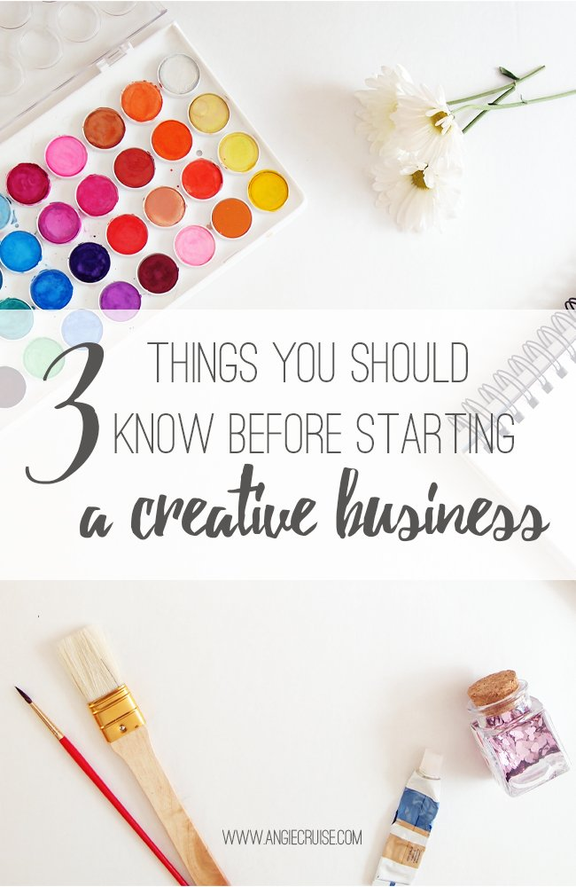 Getting ready to start a creative business and turn your hobby into an income? Here are 3 things I wish I'd known when I got started! #wahm #creativeentrepreneur