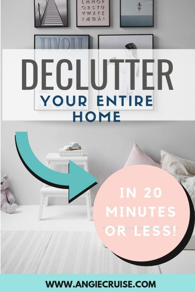 Need to declutter but don't have much time? Use this list to help you declutter your home, 20 minutes at a time!