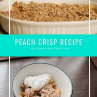 Peach Crisp Recipe: THM-E, Sugar Free Dessert Recipe