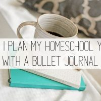 How I Use a Bullet Journal for Homeschool Planning