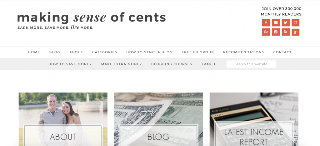 work from home blogger to follow: Making Sense of Cents