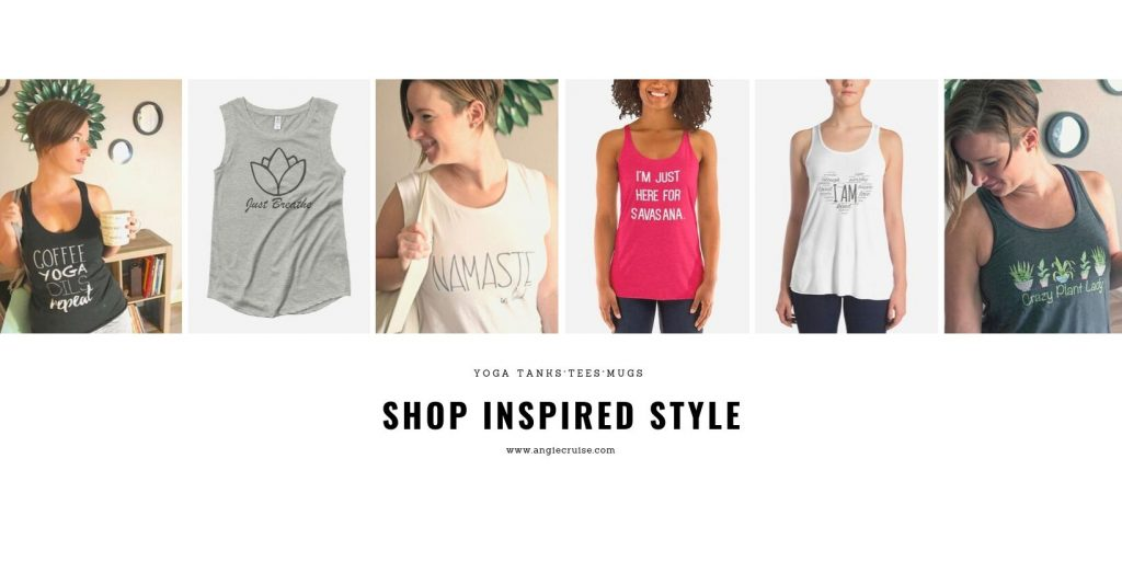 shop inspired style yoga tanks