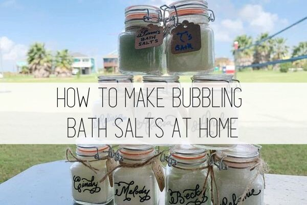 how to make bubbling bath salts at home