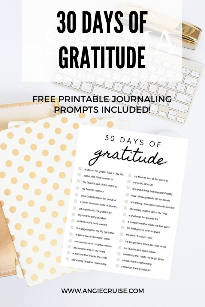 30 days of gratitude: free printable journal prompts included!