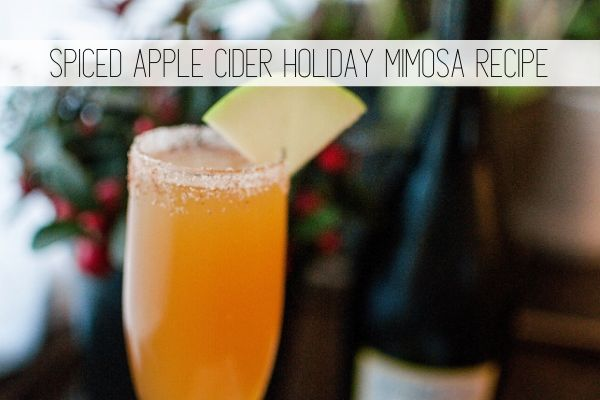 spiced apple cider holiday mimosa recipe