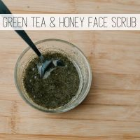 Green Tea and Honey Homemade Face Scrub