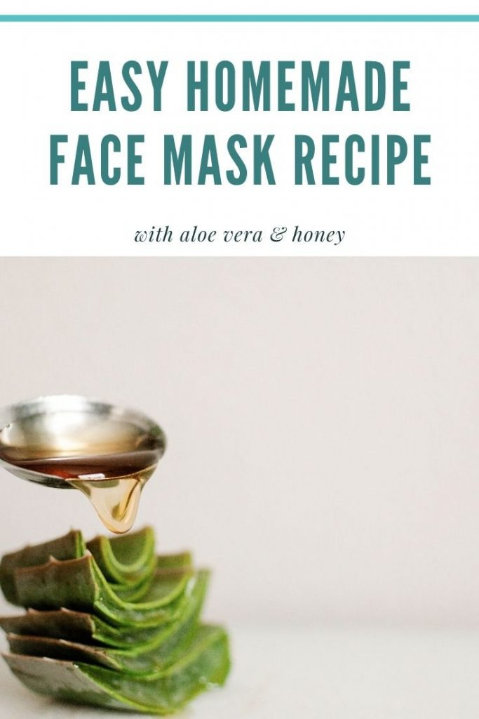 easy homemade face mask recipe with aloe vera and honey