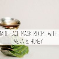 Homemade Face Mask Recipe with Aloe Vera & Honey