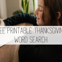 Thanksgiving Word Search: Free Thanksgiving Printable
