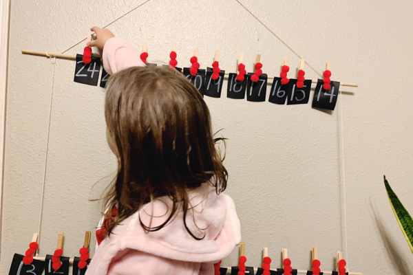 DIY Simple Advent Calendar Idea