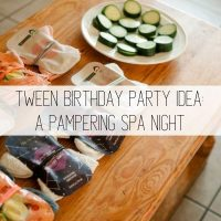 Simple Spa Tween Birthday Party Idea