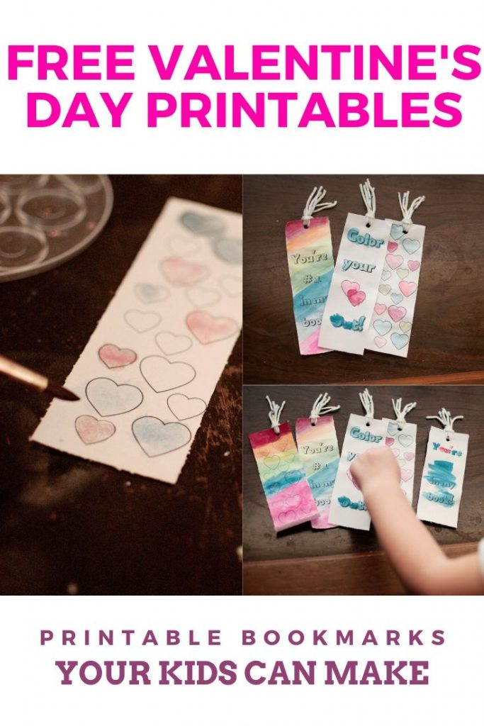 free valentine's day printable bookmarks your kids can make