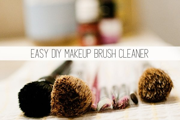 easy diy makeup brush cleaner