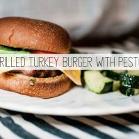 Grilled Turkey Burgers with Pesto