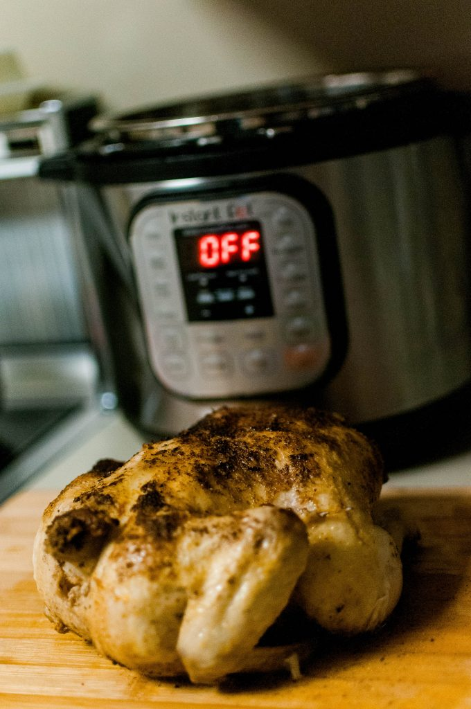 Easy clean eating meal idea: instant pot whole chicken