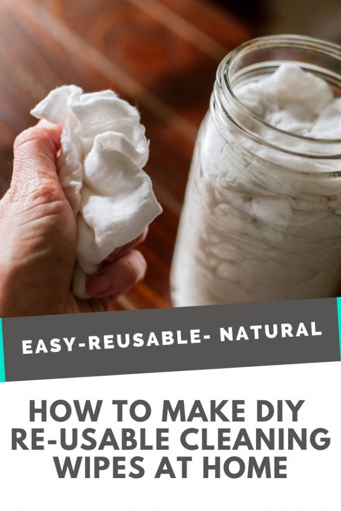 Easy, reusable, natural DIY cleaning wipes at home