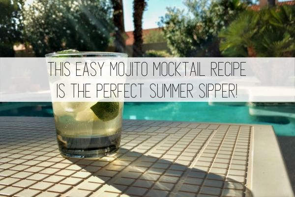this easy mojito mocktail recipe is the perfect summer sipper