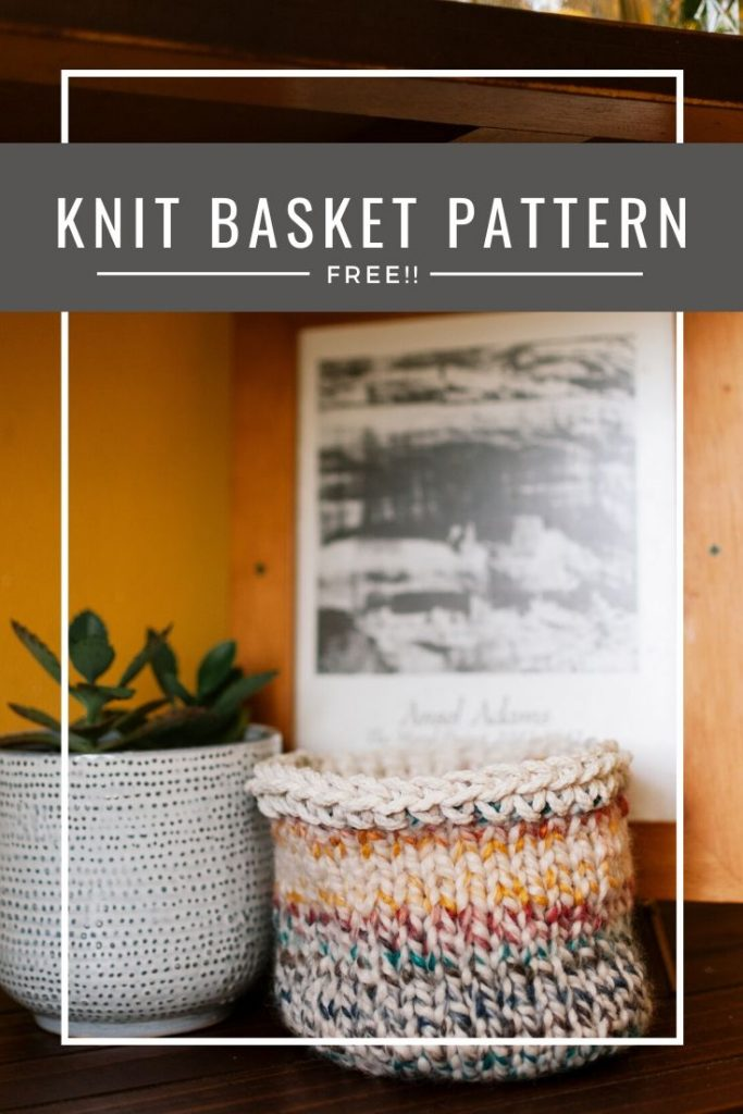 Free knit basket pattern
