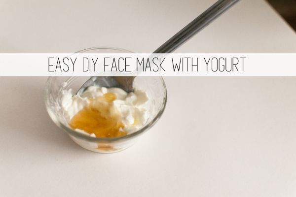 easy diy face mask with yogurt
