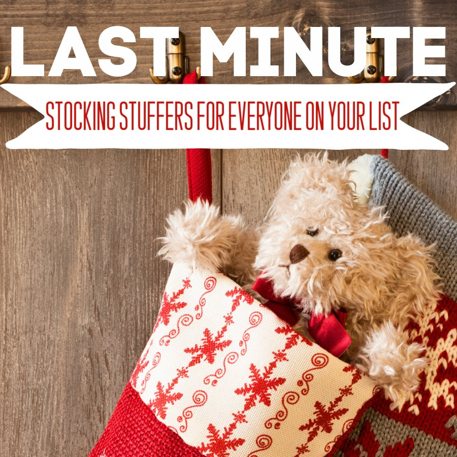 Photo says: Last Minute Stocking Stuffers for Everyone On Your List