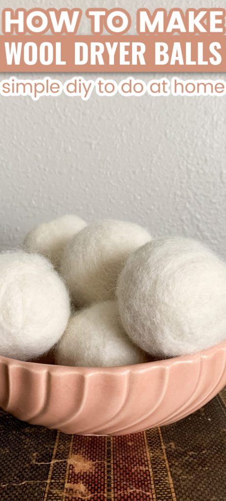 how to make wool dryer balls: simple DIY to do at home