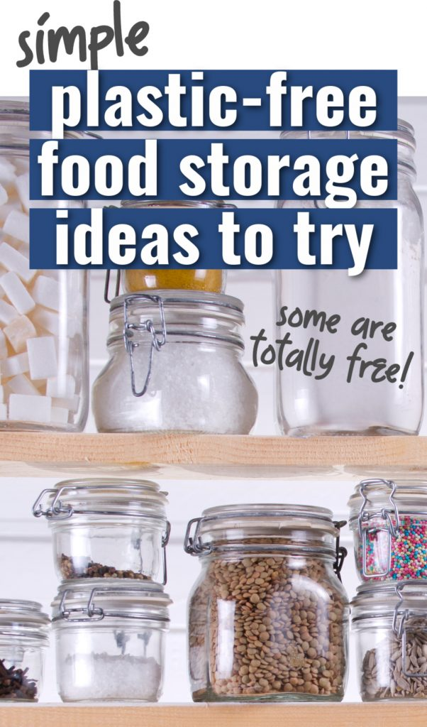 simple plastic free storage ideas to try